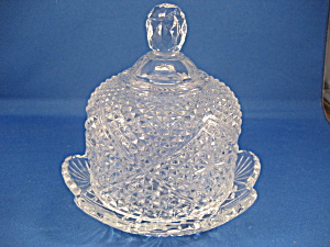 Cute Glass Butter Or Cheese Dish