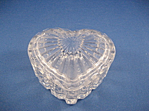 Glass Heart Shaped Trinket Box