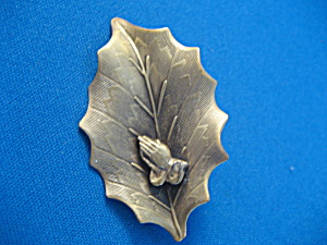 Praying Hands Leaf Brooch