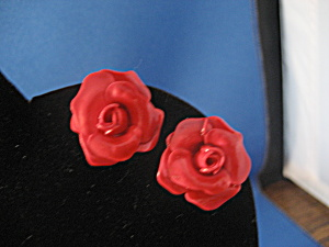 Red Rose Earrings (Image1)