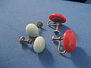 Red and Blue Earrings (Image1)