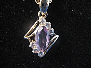 Amethyst and Faux Diamond Necklace (Image1)