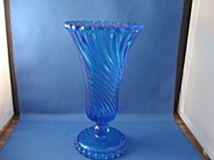 Westmoreland Swirl And Ball Vase