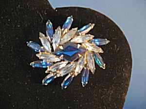 Blue Rhinestone Star Brooch (Image1)
