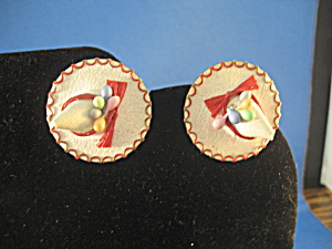 Leather Hat Earrings (Image1)
