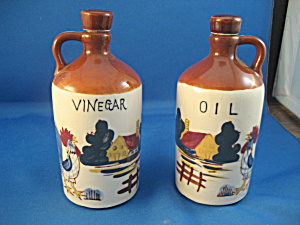 Rooster Vinegar And Oil Set