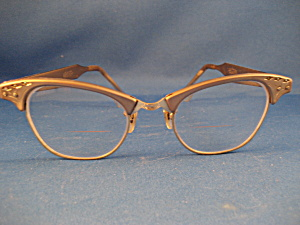 Gold Tone Vintage Eye Glasses (Image1)
