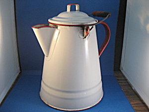 Large Enamel Sheepherder Coffee Pot (Image1)