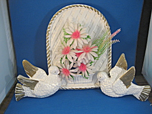 Chalkware Pocket Planter And Doves