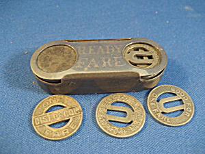 Bus Tokens And Ready Fair Holder