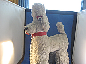 1940 Gray Carnival Stuffed Poodle (Image1)