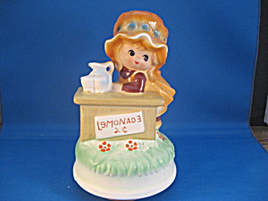Bonnett Girl Music Box