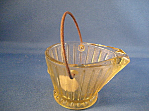 Amber Glass Coal Bucket Ash Tray