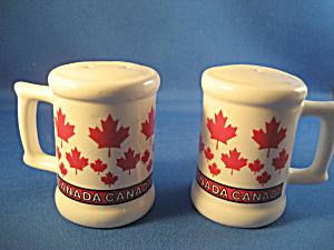 Red Leaf Salt And Pepper Shaker From Canada