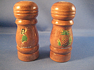Wooden Salt And Pepper Shaker From Hawaii