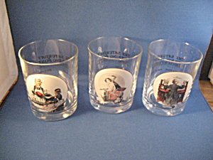 Threee Norman Rockwell Glasses