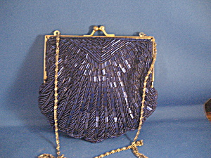 Blue Beaded Purse (Image1)