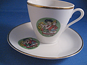 Miniature Dogpatch Advertising Cup And Saucer