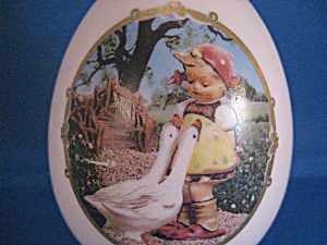 The Goose Girl Hummel Porcelain Egg (Image1)