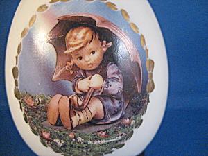 The Umbrella Girl Hummel Porcelain Egg (Image1)