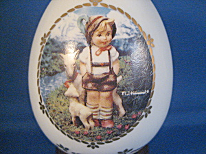 Little Goatherder Blue Porcelain Egg (Image1)