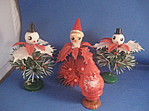 Santa Candy Container and Plastic Decorations (Image1)