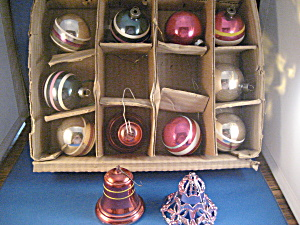 Assortment of Glass Balls and Bell Ornaments (Image1)