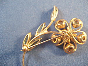 Rhineston Flower Brooch (Image1)