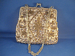 Gold Sequin and Beaded Purse (Image1)