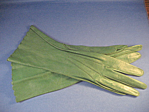 Stetson Green Leather Gloves (Image1)