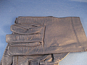 Blue Leather Driving Gloves (Image1)