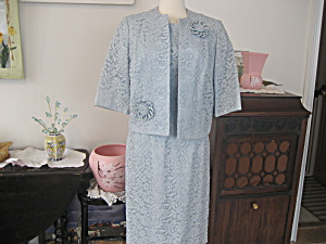 Blue Lace Jacket Dress (Image1)