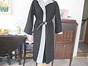 Black And Grey Reversible Trench Coat