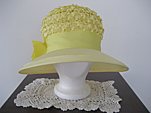 Yellow Brimmed Straw Hat (Image1)