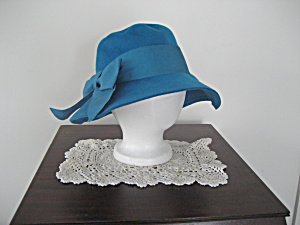 Blue Wool Floppy Hat (Image1)