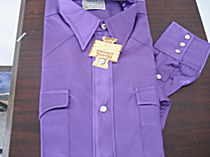 Purple H Bar C Men's Western Shirt