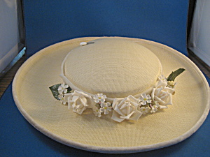 Flowered Straw Hat (Image1)