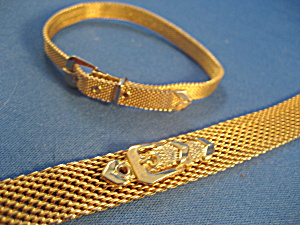 Gold Mesh Buckle Necklace and Bracelet (Image1)
