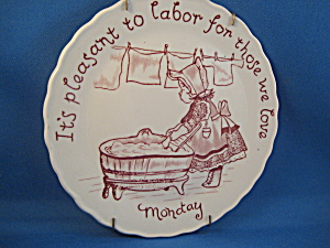 Labor Of Love Plate From Staffordshire