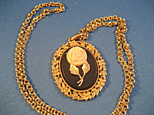 Avon Rose Mirror Locket