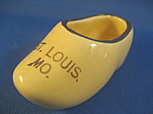 Miniature Wooden Shoe Souvenir From St Louis
