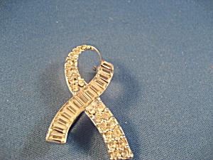 Rhinestone Ribbon Brooch (Image1)
