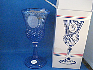 Fostoria Blue Martha Washington Goblet And Candleholder
