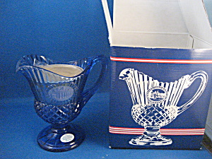 Fostoria Colbalt Blue Pitcher And Candle Holder