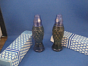 Avon Crystalpoint Colbalt Blue Salt And Pepper