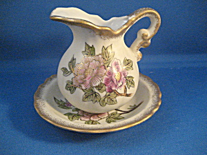 Miniature Lefton Bowl And Pitcher