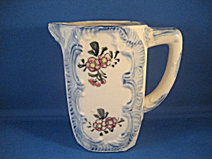 Blue Flowered Milk Pitcher (Image1)