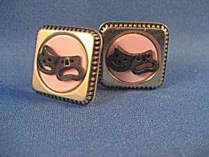 Theatre Symbol Of Frown, Smile Cuff Links