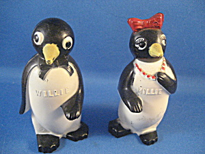 Vintage Millie and Willie Peguin Salt and Pepper Shakers (Image1)