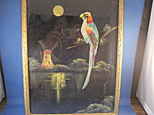 Folk Art Real Feather Picture (Image1)